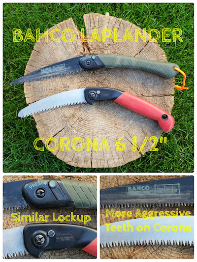 "Bahco Laplander and Corona RS4040 6.5"" Folding Saw Compared"