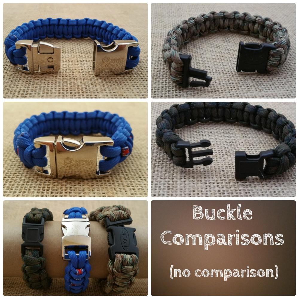 Survival Bracelet Buckle Comparison