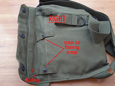 Right: The M9A1 Bag