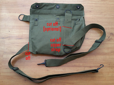 How to Cut the M9A1 Gas Mask Bag Straps
