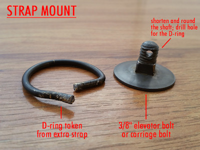 Making the D-Ring Assembly for the Gas Mask Bag